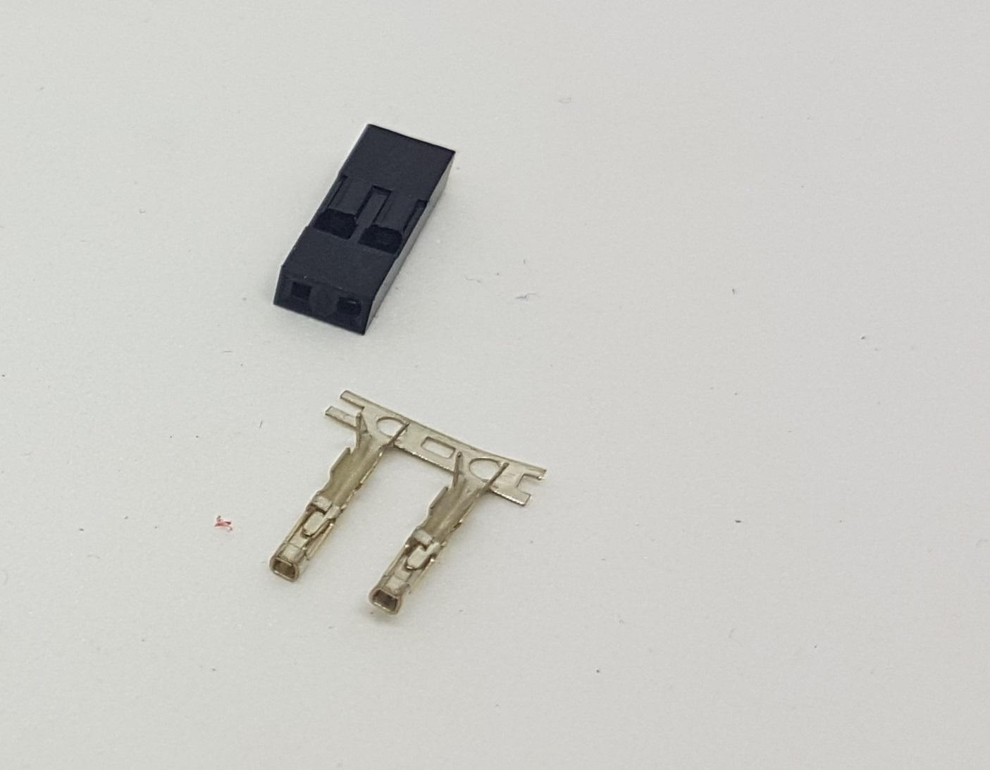 3d drucker teile und mehr dupont stecker 2 pol. Black Bedroom Furniture Sets. Home Design Ideas